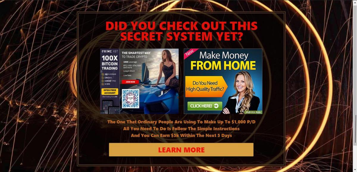 secret system screenshot