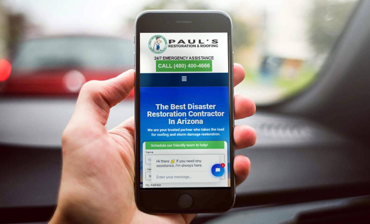 paul's mobile screen view